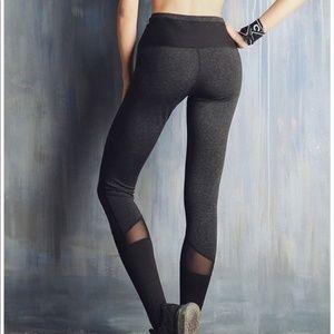 Pants - 💚 High Waist Stirup Mesh Cutout Leggings